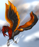 .:Art Trade:. With Ember-Flames by phenoxfire