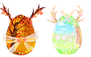 [CLOSED] Autumn/Spring Deer Mystery Eggs {AUCTION} by maributt