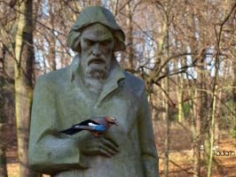 the poet and the bird by k-a-d-a-t-h