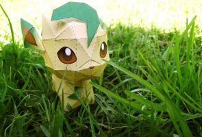 Leafeon papercraft 1 by Alicss