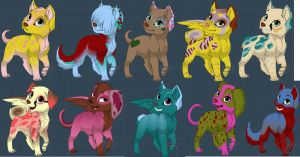 1 Point Dog Adoptables 1 -ONLY 1 LEFT- by Dani-Dan