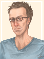 .: stephen merchant :. by guineapig37