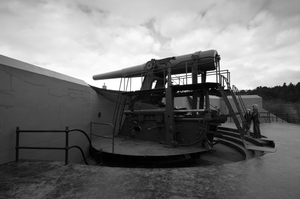 Fort Casey Cannon (Deployed) by HellcatF6F