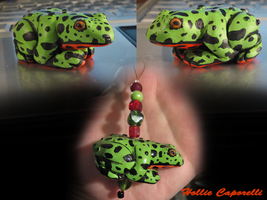 Fire belly toad charm commisson by HollieBollie