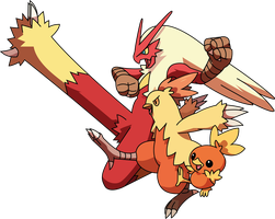 30 Day Challange : pokemon - day 3 - Blaziken by Andie200
