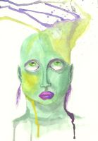 green yellow portrait by Sasha-Drug