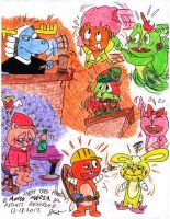 Happy Tree Friends Sketches by Josiah-Shockency-JCS