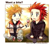 KH: Akuroku- Want a bite? by Asaphira