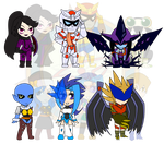 Assorted Chibis - Get Your Game On by Dragon-FangX