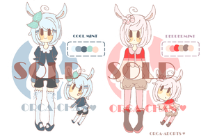 OrcchiiAdopts #1- CoolMint and PepperMint (CLOSED) by Orcchii