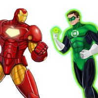 Player Select: Iron Man VS Green Lantern by Garoooooh