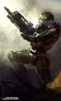 The Calm Before The Storm Halo Fan Art by DiceNwn