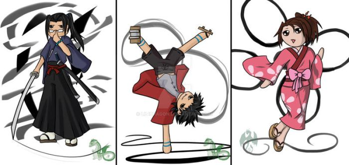 Samurai Champloo Cards by Lil1Dragon