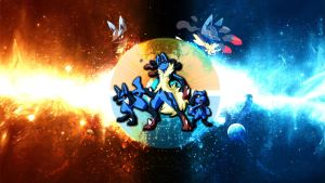 The Lucario Wallpaper by FRUITYNITE