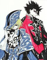 Kurogane and Fai by kimberlyhenriksen