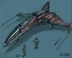 Star Fighter Color by MeckanicalMind