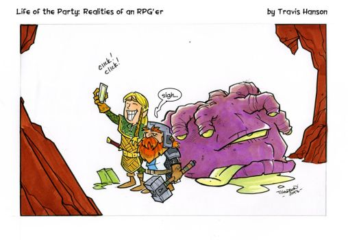 Dungeon Crawl Selfies - RPG Comic by travisJhanson
