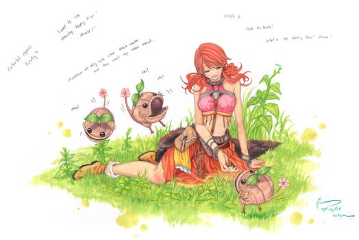 Vanille And Her Unlikely Pets by Nick-Ian