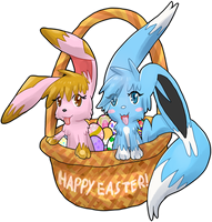 Happy Easter! : Cute Fluffy Easter Basket by Lo-Gi-Oh