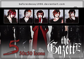 the GazettE DECADE Icon Pack by BeforeIDecay1996