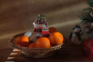About tangerines and snowmen 2 by An-gora