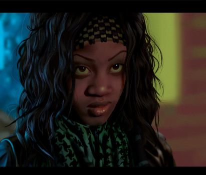 Tia-Attack The Block-painting by Art-Gem