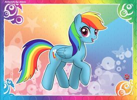 Rainbow Dash CARD by shinn3