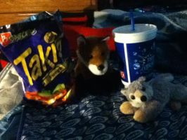 Foxy And Wolfie's Great Snack And Drink XD by BrandiSwick227