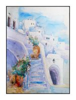 Santorini: Stairway by shadow-of-kyle