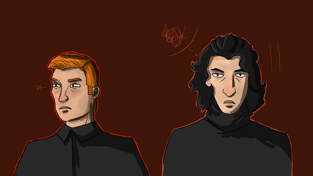 General Gingerbread and Sith Babe 'face study' by Brixa
