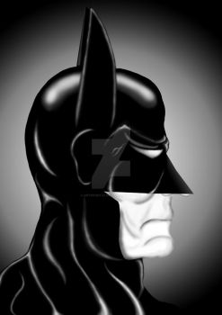 Batman Portrait B/W by ArteDigitalSA