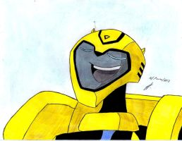 very  cuuute smile of Bumblebee Transformers Anim by ailgara