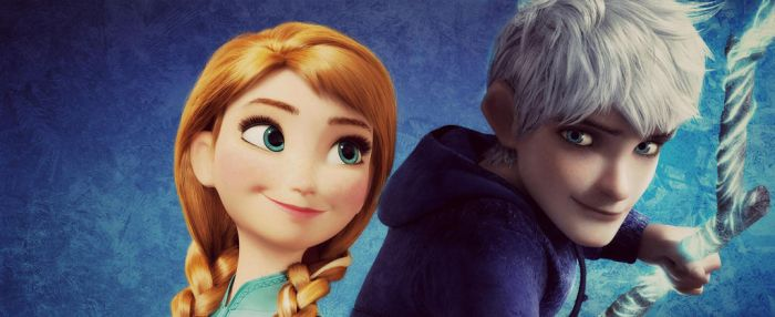 Princess Anna and Jack Frost by DisneyJLE