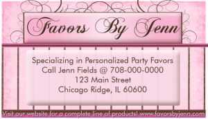 Favors By Jenn Business Card by sevymama