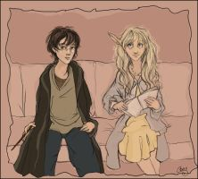 Harry and Luna by gredandfeorge