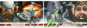 B-Wing Pilots - Artist Proof SketchCards by Erik-Maell