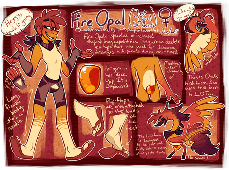 Fire Opal finally gets an Updated Ref by TaiintySoup