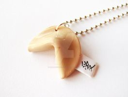 Ai Love fortune cookie necklace by mAd-ArIsToCrAt