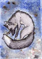 ACEO trade: Rhenin - Zerda-fox by Nanook94