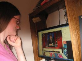 Watchin the Colbert Report by Moosader