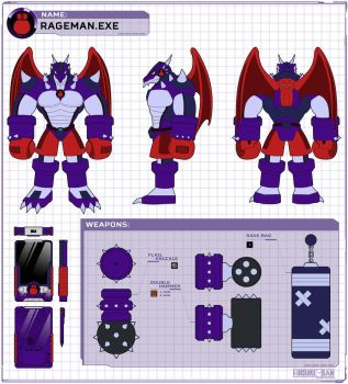 RageMan.EXE: Concept sheet by Higure-san