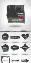 Grunge banners by Free-designs-net