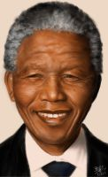 IPad finger painting of the late Nelson Mandela by chaseroflight