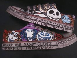 NIGHTMARE BEFORE CHRISTMAS HANDPAINTED SHOES by rachelliles352