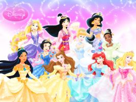 Ten Official Disney Princesses by ArsalanKhanArtist