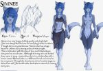 Simnee Char Sheet Colored by Cranos5000