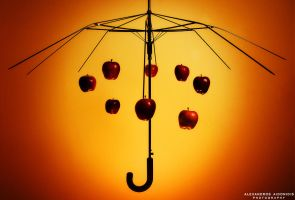 Umbrella skeleton with apples by AlexAidonidis