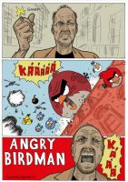 Angry Birdman by caiooliveira