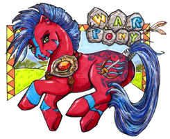 WarPony MLP Badge FF09 by frisket17