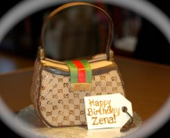 Gucci Purse Cake by Keep-It-Sweet